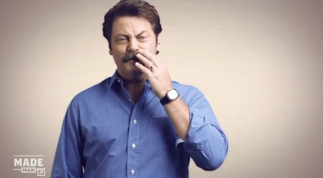 Nick Offerman bigote Gutenver